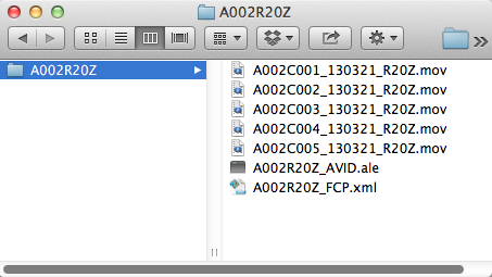 Copying ProRes files from the Capture Drive